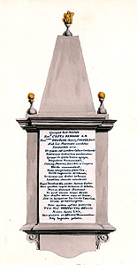The monument to Capell Berrow about 1820 [Z1244]